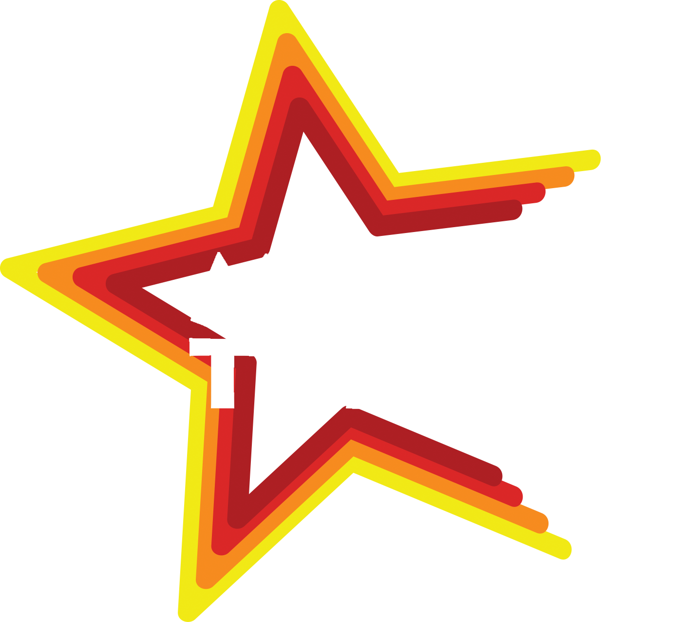 Moore Theatres star logo words white